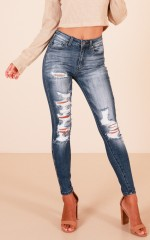 Jules skinny jeans in medium wash