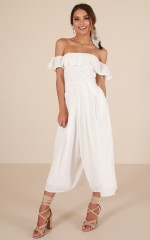 Favorite Place jumpsuit in white