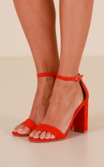 Billini - Jessa Heels in red micro