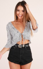 Focus On Me top in white floral