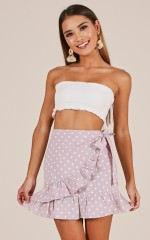 Which Way To Paradise skirt in pink polkadot