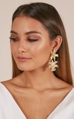 Like Clockwork earrings in gold