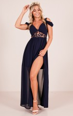 Make An Entrance maxi dress in navy