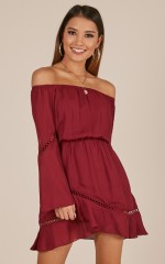 A Touch Of Twinkle dress in wine