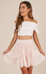 Killing Time skirt in blush