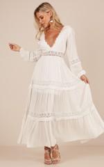 Ariel maxi dress in white