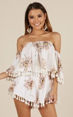 Bohemian Love two piece set in white floral