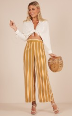 Live For This pants in mustard stripe