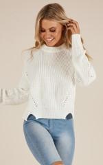 Left In Wonderland knit in white