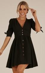 Life Is Sweet dress in black