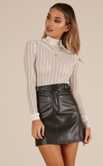 Party People skirt in black leatherette