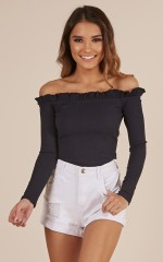 Melodrama Top in Navy