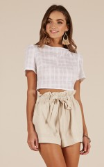 Symphony crop top in white