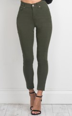 Fill Me In jeggings in khaki