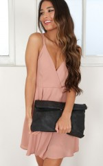 To The Letter clutch in black