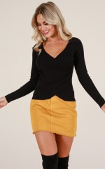 Carry On Again knit in black