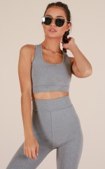 Push Through Crop Top in Grey Marle