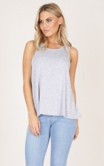 Even In My Head top in grey marle