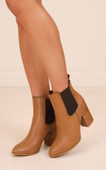Billini - Jaida Boots in dark tan