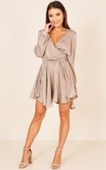 Dont Bring Me Down dress in beige