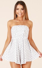 Over Capacity playsuit in black and white