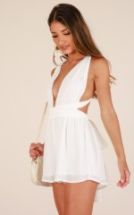 California sunset playsuit in White