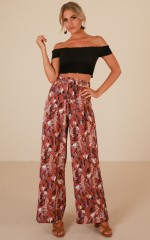 Kiss From A Rose pants in dusty rose floral