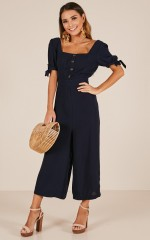 The Only Option jumpsuit in navy