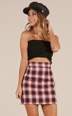 Seams Good skirt in Red Check