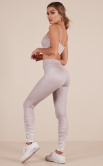 The Countdown Tights in Grey Geo