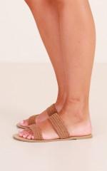 Billini - Cillia Slides in tan micro