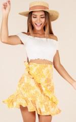 Get My Love skirt in orange print