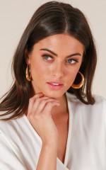 Hidden Talent earrings in gold