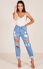 Lola jeans in mid wash denim