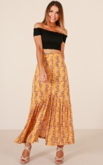 Nomadic Madness Skirt in  mustard floral