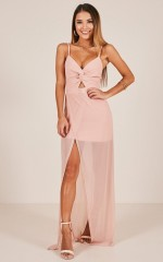 Knot My Fault maxi dress in blush