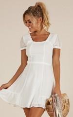 The New Girl dress in white