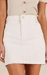 Keep A Secret skirt in white