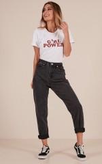 Alice mum jeans in black