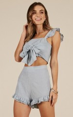 Bright Skies two piece set in blue