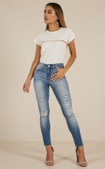 Bekah skinny jeans in light wash