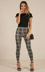 Brooklyn Baby pants in black check