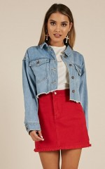 Chase The Sun denim jacket in midwash