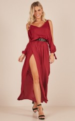Clean and Simple jumpsuit in Wine