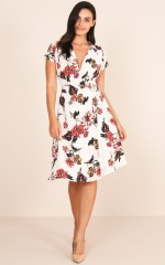 Ready To Dance dress in white floral