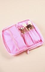 Travel Makeup Bag in pink