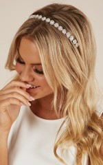 Lights Go Out headband in silver