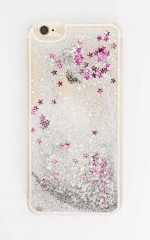Dizzy Lizzy iphone cover in silver glitter - 6 plus