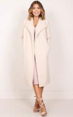 New York's Calling coat in beige