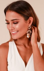 Say You Love Me earrings in gold